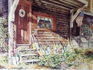"Fisherman's Cottage 28"" X 35"""