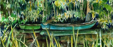 Giverney, Monet's Boats