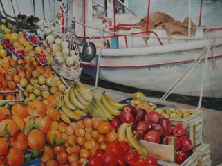 Greek Fruit Boat